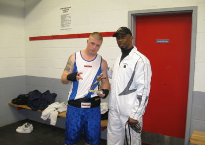 Boxing Pictures 2008 Artie's win & Head Coach Gary Johnson in NB