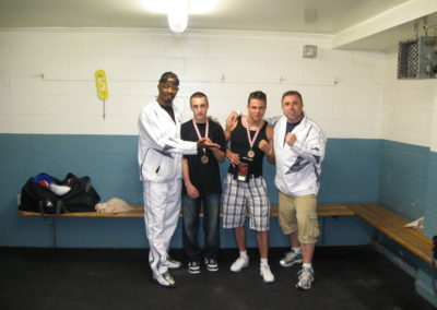 Boxing Pictures 2008 in NB Ricky Hanson & Chris Portoues wins with Head Coach Gary Johnson & Assist Coach Floyd Donovan