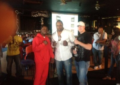 Rhode Lounge 2012 Pre Olympic send off Party for Custio Clayton - Middle is Pro Athlete Kirk Johnson & your right Pro Athlete Artie Cousins