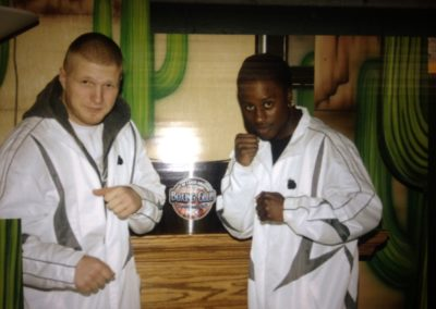just 2 of City of Lakes Boxing Club Pride Athletes - Artie Cousins & Custio Clayton